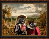 Leonberger Art Print CANVAS print 12x16 by Nobility Dogs -  Return to village event
