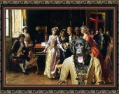 Large Munsterlander Art Print CANVAS print 12x16 by Nobility Dogs - The Music Lesson