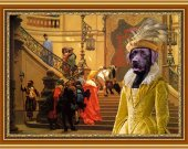 Labrador Retriever Art Print CANVAS print 12x16 by Nobility Dogs - Respected Lady at the court