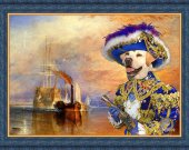 Labrador Retriever Art Print CANVAS print 12x16 by Nobility Dogs - The fighting Temeraire