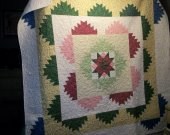 Handmade Completed Quilt Star Pattern