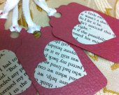 set of 5 Valentine Tags, Gift Tags, Wish Tree Tags , Favor Tags, Treat Bag Tags, Product Tags, Hang Tags