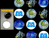 Monsters, Inc Set of 12 Pinback Buttons - Make Great Party Favors - Set 2