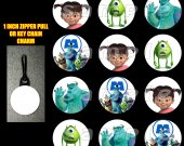 Monsters, Inc Set of 12 Zipper Pulls Make Great Party Favors - Set 1
