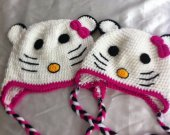 Kitty cat hat   one is size 18 moths to 3 years old , and  3 years to 6 years old