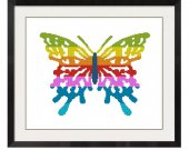 ALL STITCHES - Colorful Butterfly Cross Stitch Pattern .PDF -700