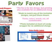 WWE Raw vs Smackdown Personalized Birthday Party Favors