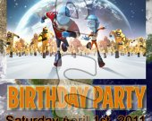 Escape from Planet Earth Ticket Style Personalized Party Invitations