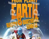 Escape from Planet Earth Personalized 4x6 Birthday Party Invitations