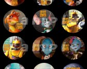 Escape from Planet Earth Set of 12 2-Inch Round Personalized Stickers or Seals