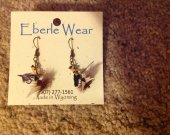 Royal Coachman Fly Fishing Dangle Earrings