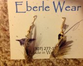 Muddler Minnow Fly Fishing Dangle Earrings