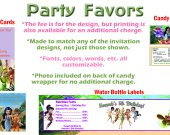 Tinkerbell Disney Fairies Personalized Birthday Party Favors Supplies