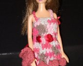 Barbie Crochet Cocktail Dress & evening purse