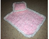 Pink Barbie Blanket & Pillow