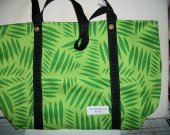 Handmade Large Market Tote Carrier Palm Leaves Green