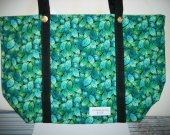Handmade Large Market Tote Carrier Leaves