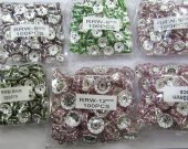 wholesale rondelle crystal rhinestone 8mm 500pcs spacer tone beads assortment
