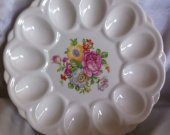 Vintage Egg Plate E and R American ArtWare