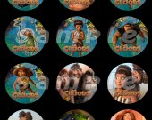 The Croods Set of 12 2-Inch Round Personalized Stickers or Seals