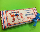 12 Lalaloopsy Personalized Chocolate Bar Wrappers with colored Foil