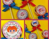 "Set of 8 Lalaloopsy Personalized Lollipop Favors Assorted Dolls!  ""Sew"" Sweet!!"