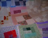 FABRIC QUILT SQUARES LOT OF 28 MIXED SIZES and colors