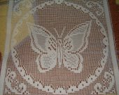 FABRIC LACE WHITE SQUARE butterfly new 10 by 10 inches