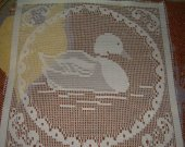 FABRIC LACE SQUARE duck new 10 by 10 inches