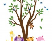 Tree WALL DECAL Jungle Wall Decal - E200