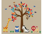 Jungle Animals Decal REUSABLE - DD101