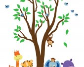 Tree WALL DECAL Jungle Wall Decal - E201