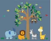 Tree WALL DECAL Jungle Wall Decal - BB100