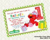 Sesame Street ELMO Birthday Party Invitation - DIY Printable