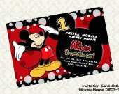 Disney MICKEY MOUSE Birthday Party Invitation - DIY Printable