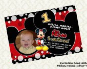 Disney MICKEY MOUSE (with photo) Birthday Party Invitation - DIY Printable