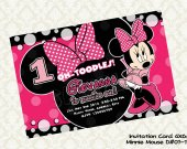 Disney MINNIE MOUSE Pink Birthday Party Invitation - DIY Printable