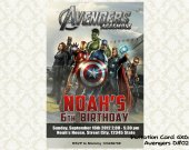 Marvel THE AVENGERS Birthday Party Invitation - DIY Printable D#02