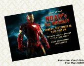Marvel IRON MAN Birthday Party Invitation - DIY Printable