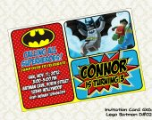 Lego BATMAN Birthday Party Invitation - DIY Printable