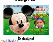 Mickey Mouse Clubhouse Invitation - Mickey Mouse printables - Mickey Mouse Invitations 4x6/ 5x7 Digital File Design 5