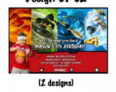 Ninjago Birthday Invitation W/Photo - Ninjago printables 4x6/ 5x7 Digital File