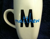 Customizable Initial and Name Coffee Mug