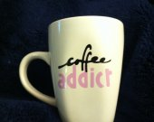 Coffee Addict Homemade Customizable Mug