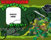 Ninja Turtles Birthday Invitation W/Photo - Ninja Turtles printables 4x6/ 5x7 Digital File Design 1