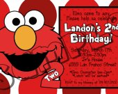 Sesame Street Birthday Invitation - Sesame Street printables 4x6/ 5x7 Digital File Design 3