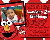 Sesame Street Birthday Invitation W/Photo - Sesame Street printables 4x6/ 5x7 Digital File Design 3