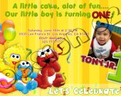 Sesame Street Birthday Invitation W/Photo - Sesame Street printables 4x6/ 5x7 Digital File Design 2