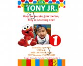 Sesame Street Birthday Invitation W/Photo- Sesame Street printables 4x6/ 5x7 Digital File Design 6