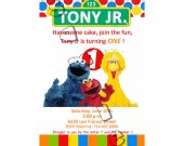 Sesame Street Birthday Invitation - Sesame Street printables 4x6/ 5x7 Digital File Design 6